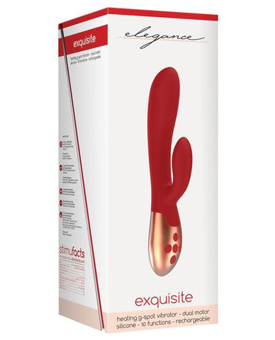 Shots Elegance Exquisite w/Heating Technology-rabbit vibrator-Shots America LLC-red-Nakees
