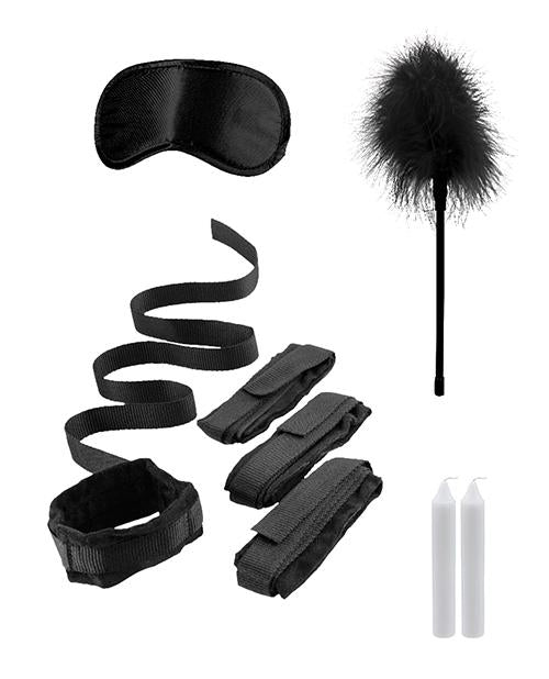 Shots Ouch Bed Bindings Restraint Kit-sex toys-Ouch-black-Nakees