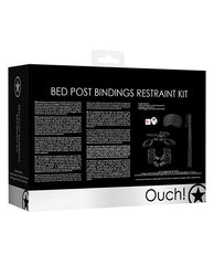 Shots Ouch Bed Post Bindings Restraint Kit-sex toys-Ouch-Nakees