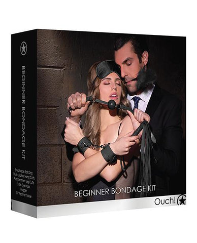 Shots Ouch Beginners Bondage Kit-sex toys-Ouch-black-Nakees