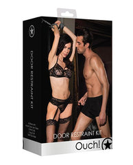 Shots Ouch Door Restraint Kit-sex toys-Ouch-black-Nakees