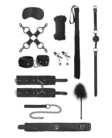 Shots Ouch Intermediate Bondage Kit-sex toys-Ouch-black-Nakees