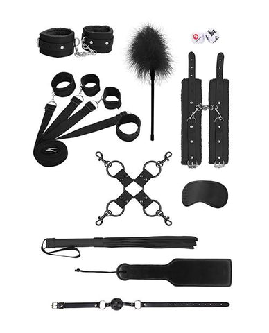 Shots Ouch Supreme Under The Bed Bindings Kit-sex toys-Ouch-black-Nakees