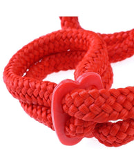 Silk Rope Love Cuffs sex toys color blackNakees