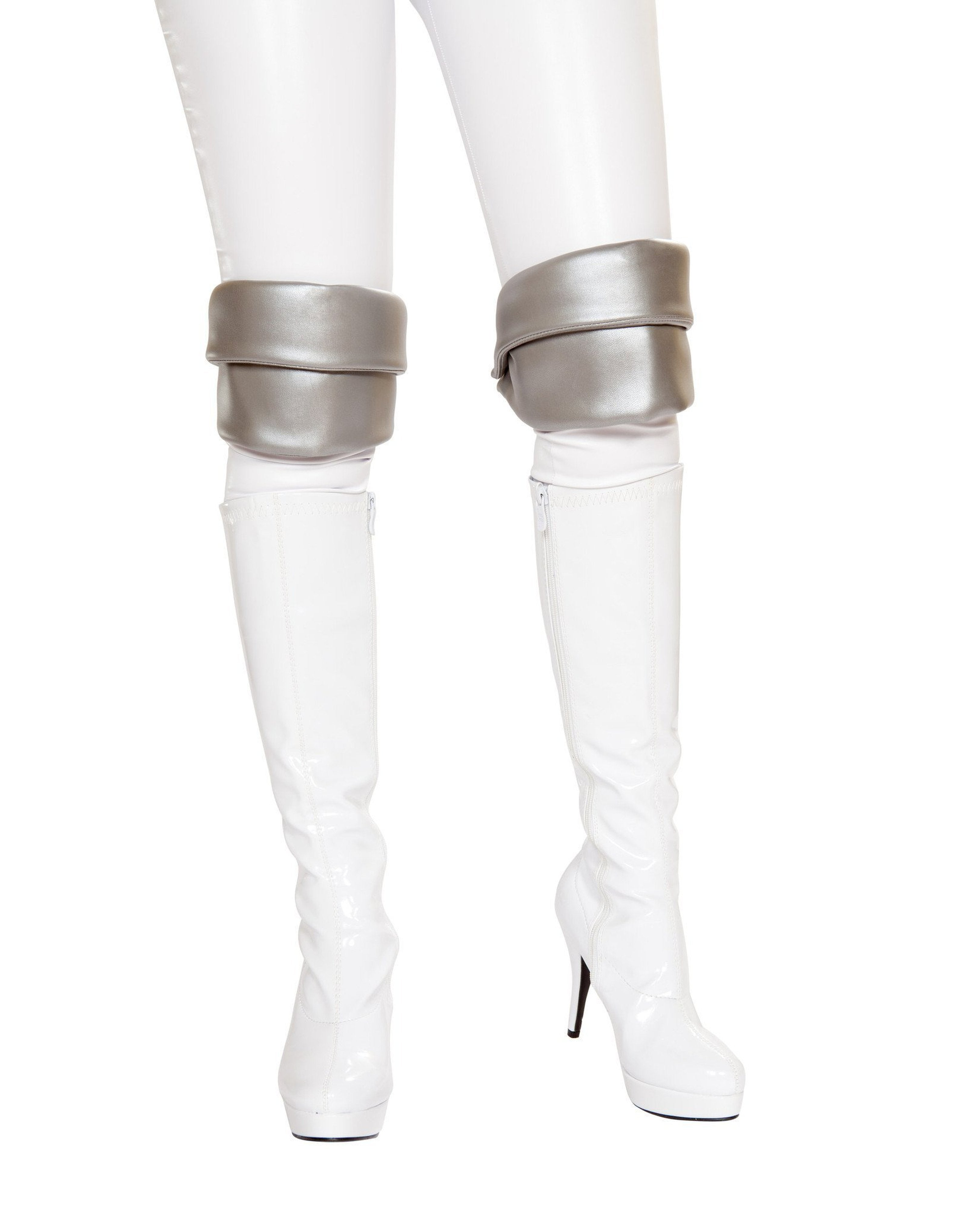 Silver Knee Pads costumes Size One SizeColor GreyNakees
