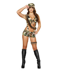 Six Piece Seductive Soldier costumes Color CamouflageSize S/MNakees