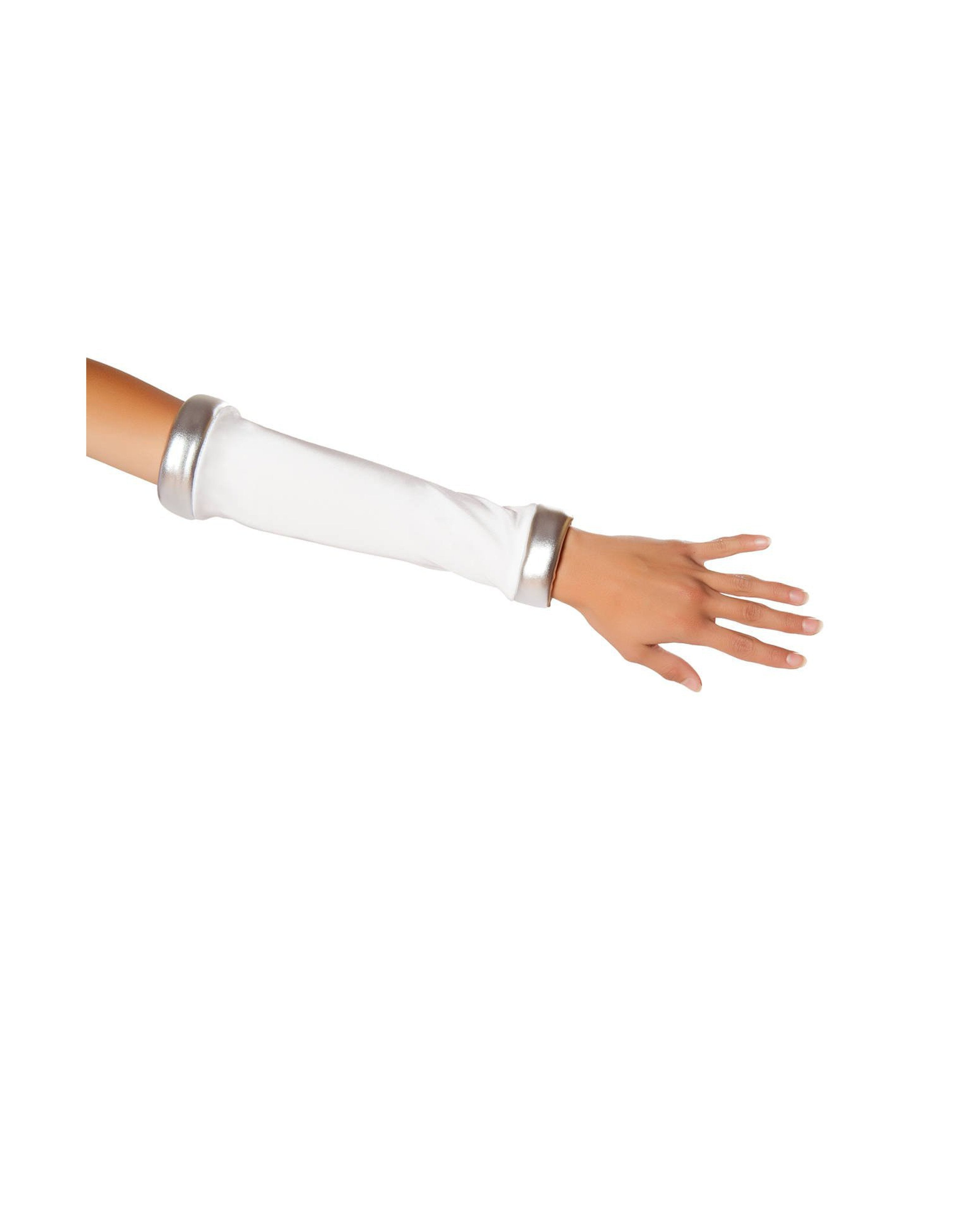 Space Commander Arm Bands costumes Size One SizeColor White/SilverNakees