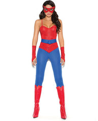 Spider Super Hero Costume costumes size smallcolor blueNakees