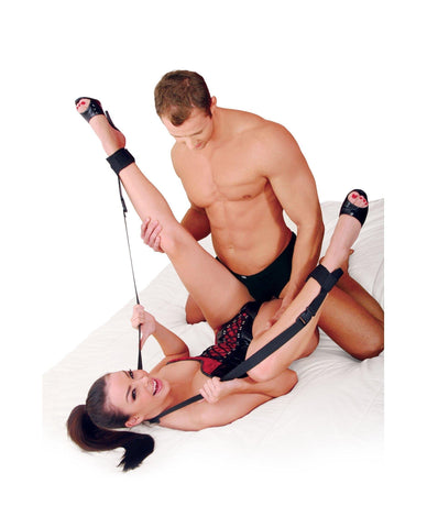 Spread Eagle Sling-couples-Pipedream-black-Nakees