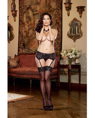 Stretch Lace Garter Belt with Scalloped Hem-women-Dreamgirl-Nakees
