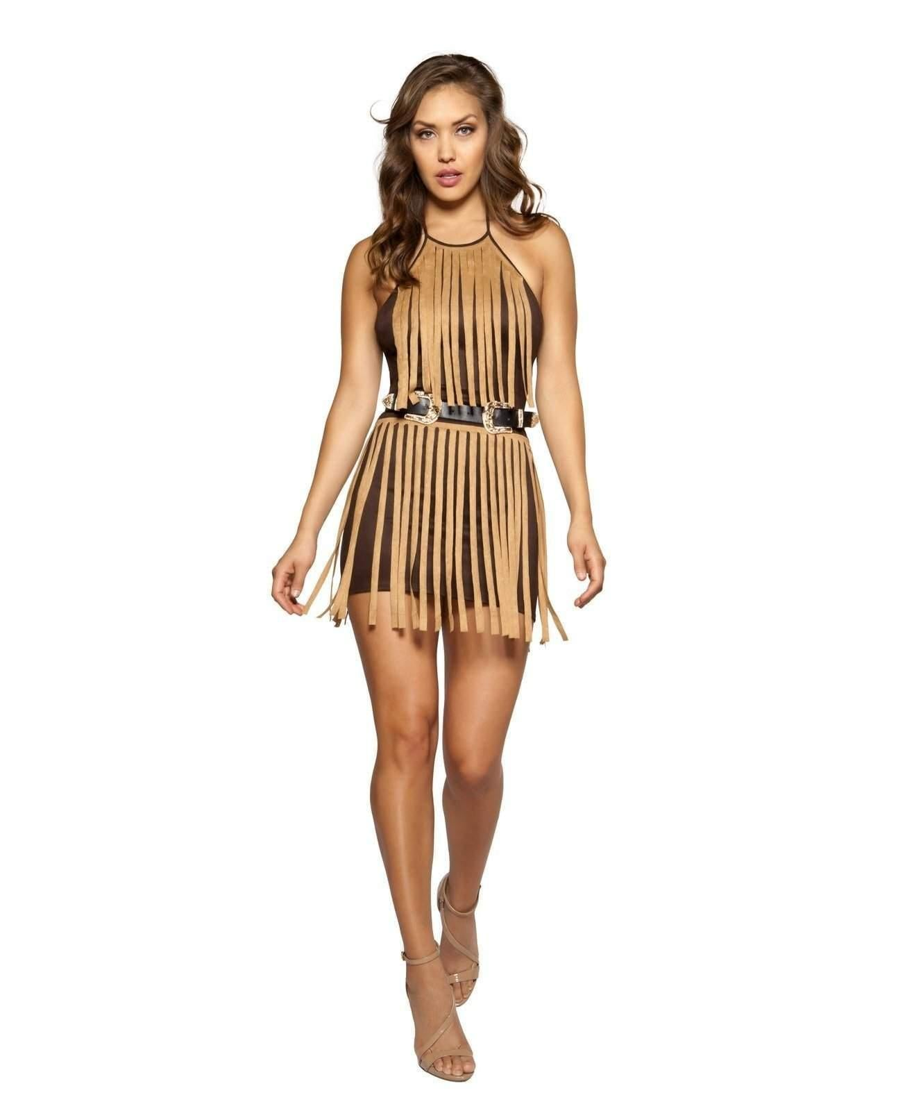 Suede Fringe Mini Dress club wear Size SmallColor Black/TurquoiseNakees