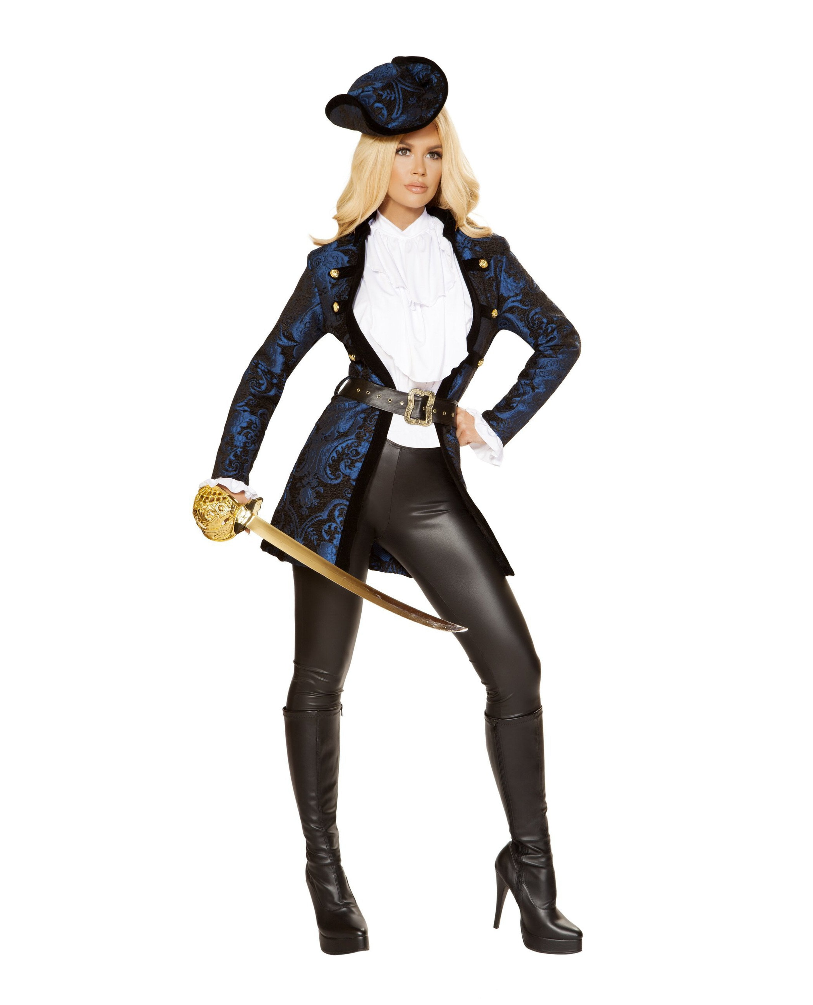 Swashbuckling Pirate Beauty costumes Size SmallColor Blue/Black/WhiteNakees