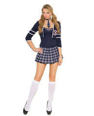 Sweet School Girl Costume costumes size smallcolor blueNakees