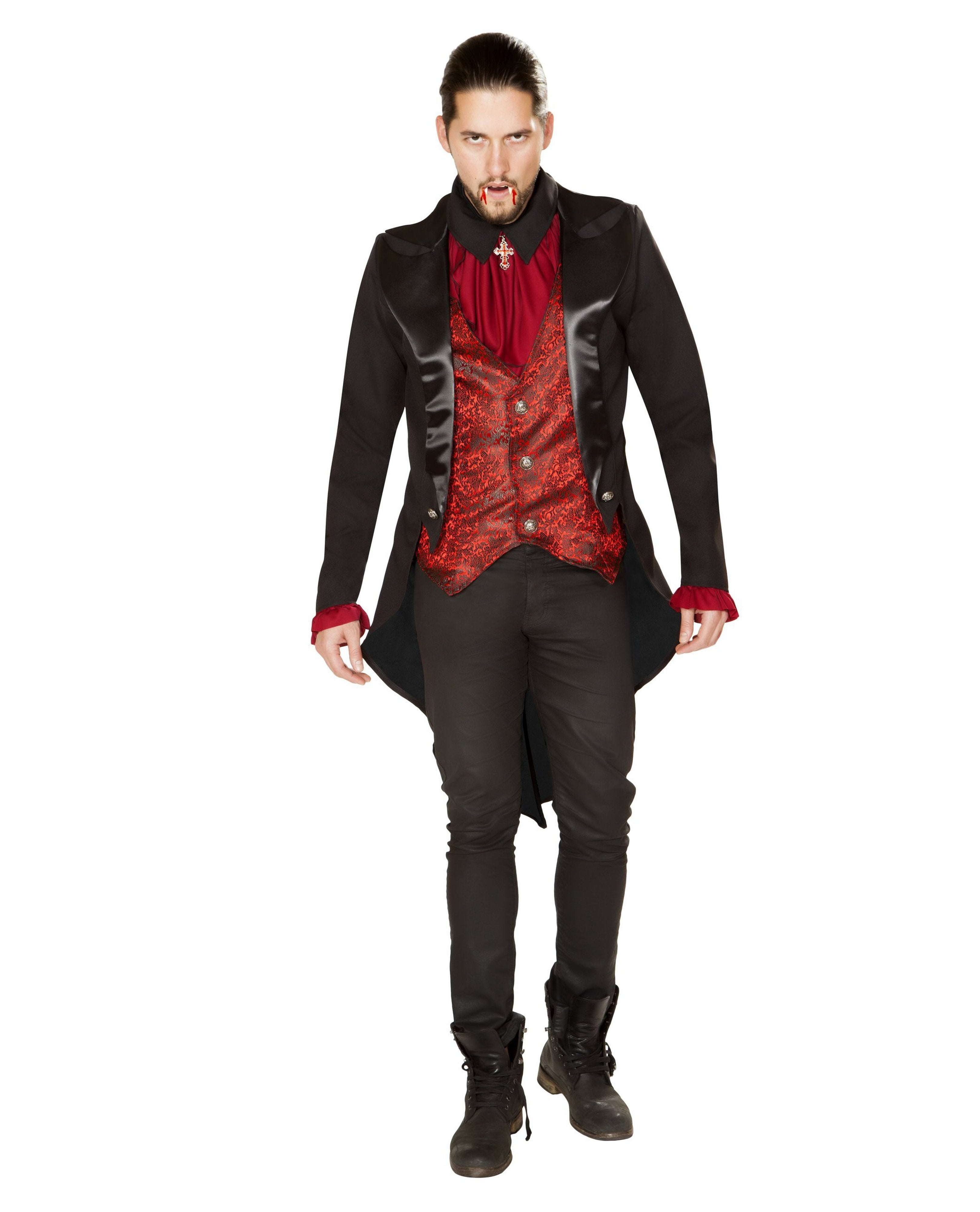 Terror of the Night Vampire costumes Size SmallColor Red/BlackNakees