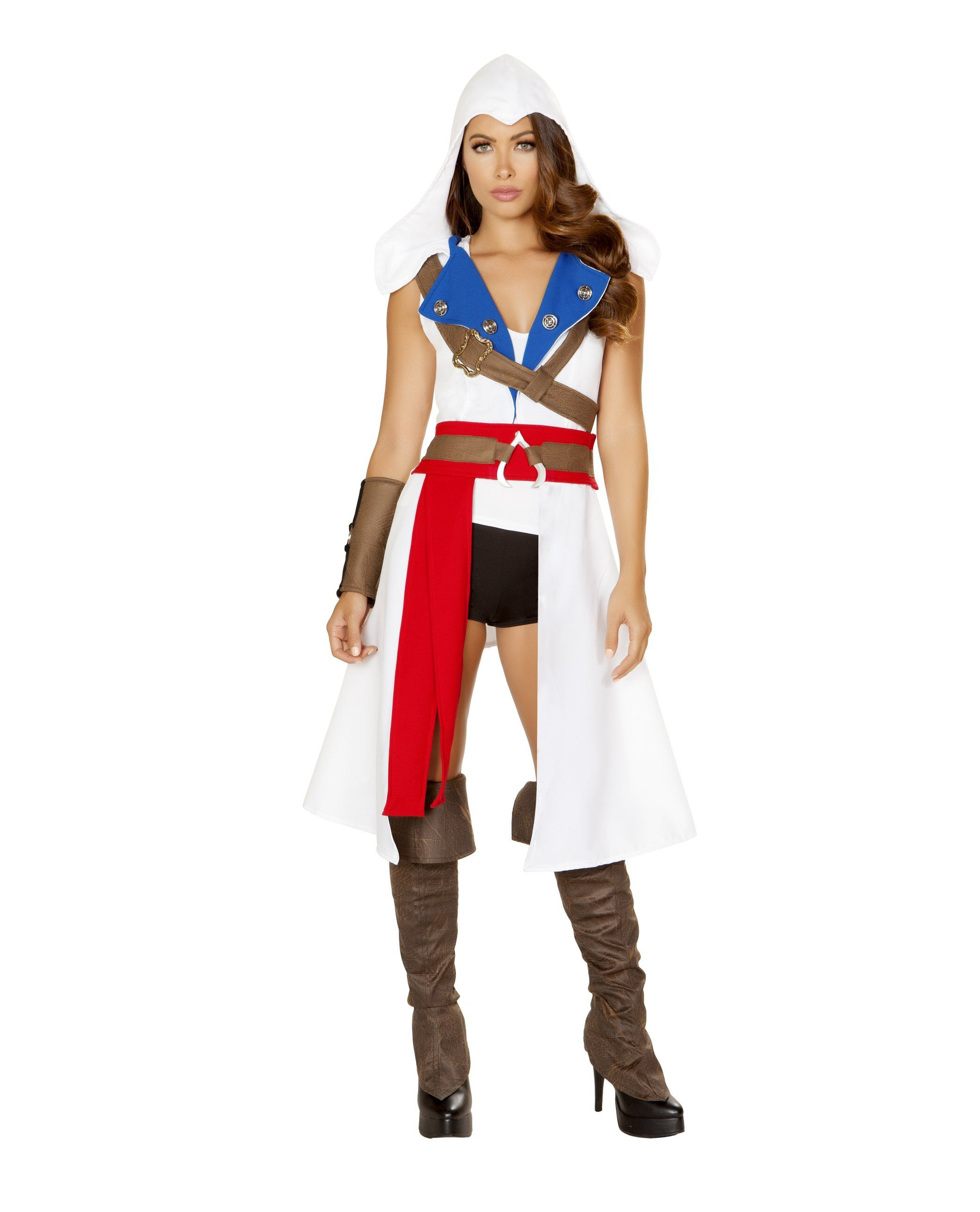 The Assassins Pretector-costumes-Roma Costume-Small-White/Blue/Red/Black-Nakees