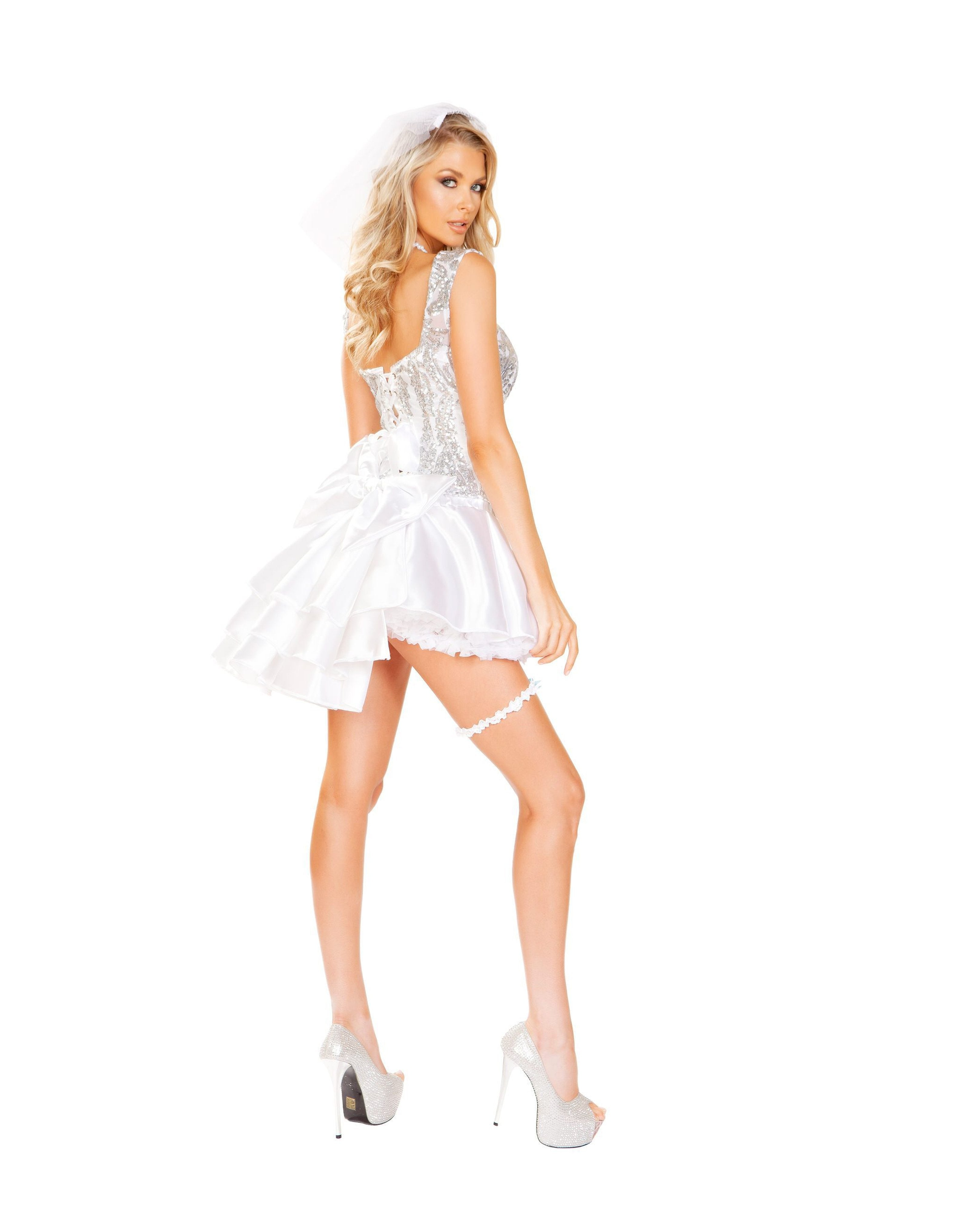 The Newlywed Bride costumes Size SmallColor WhiteNakees