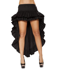 Tiered Ruffle Skirt-costumes-Roma Costume-Large-Black-Nakees
