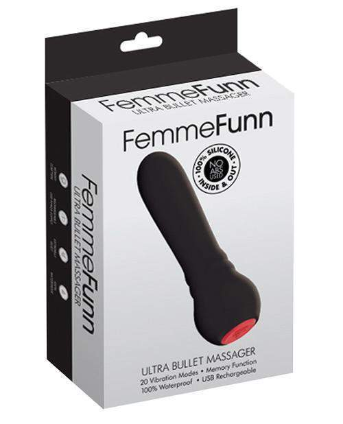 Ultra Bullet Massager Mini Vibrator sex toys color black  Nakees