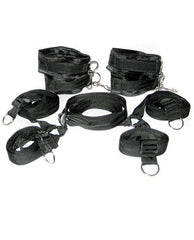 Under The Bed Restraint System-sex toys-Sportsheets-black-Nakees