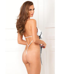 Unwrap Me One Piece Satin Bow Teddy-lingerie-Rene Rofe-small/medium-white-Nakees