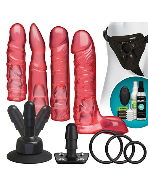 Vac-U-Lock Vibrating Crystal Jellies Set w/Wireless Remote-dildo-Doc Johnson-pink-Nakees