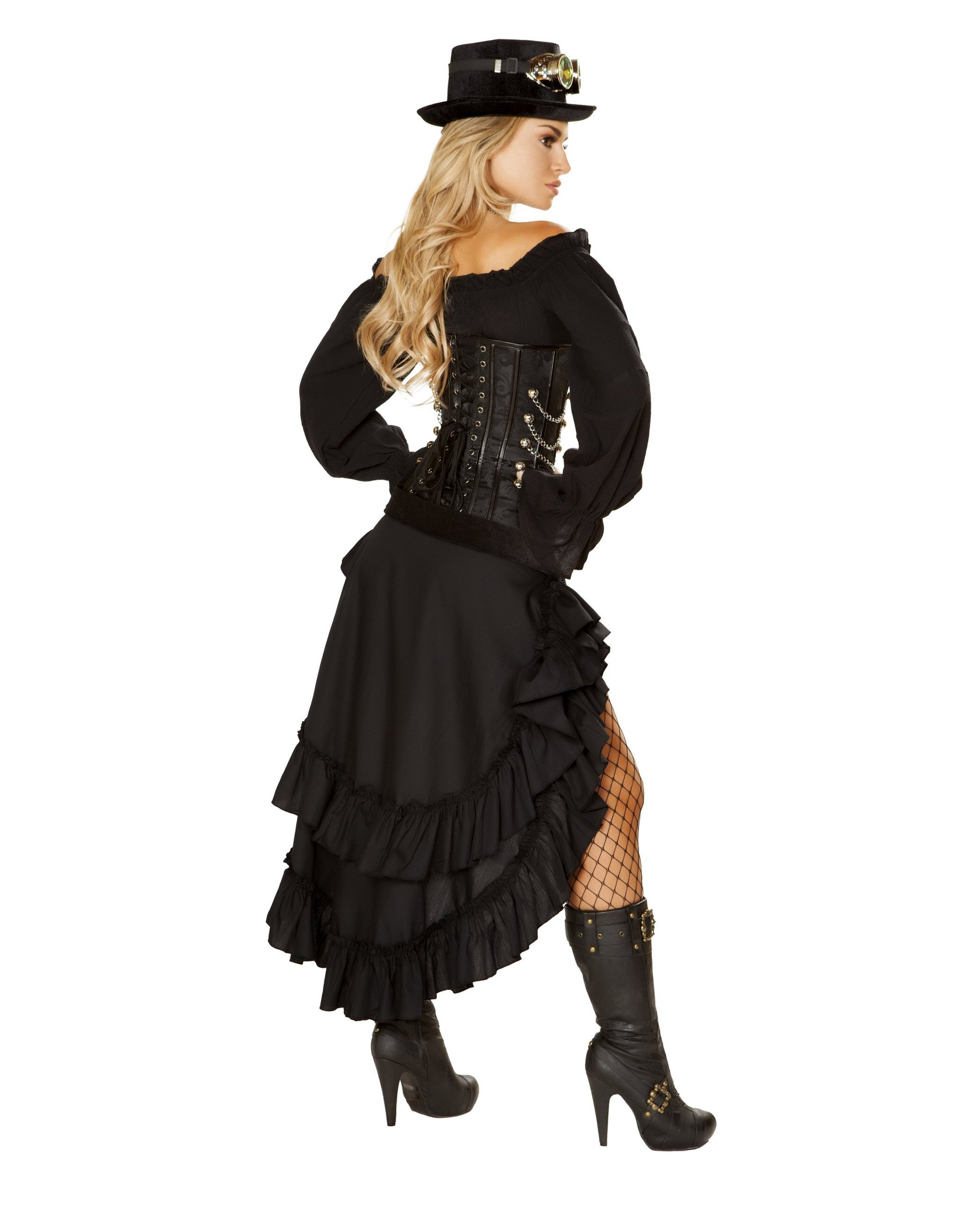 Victorian Steampunk Maiden costumes Size SmallColor BlackNakees