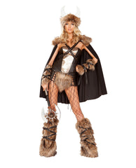 Viking Warrior costumes Size SmallColor Black/BeigeNakees