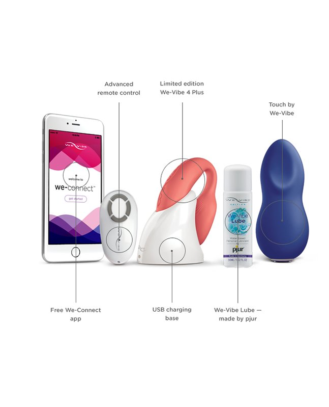 We Vibe Dreamy Desire Collection Gift Set-women-We-Vibe-pink and blue-rechargeable-Nakees