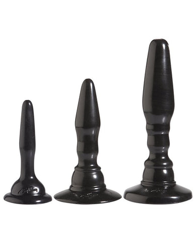 Doc Johnson Platinum Silicone the Big End Anal Plug sex toys color charcoalNakees