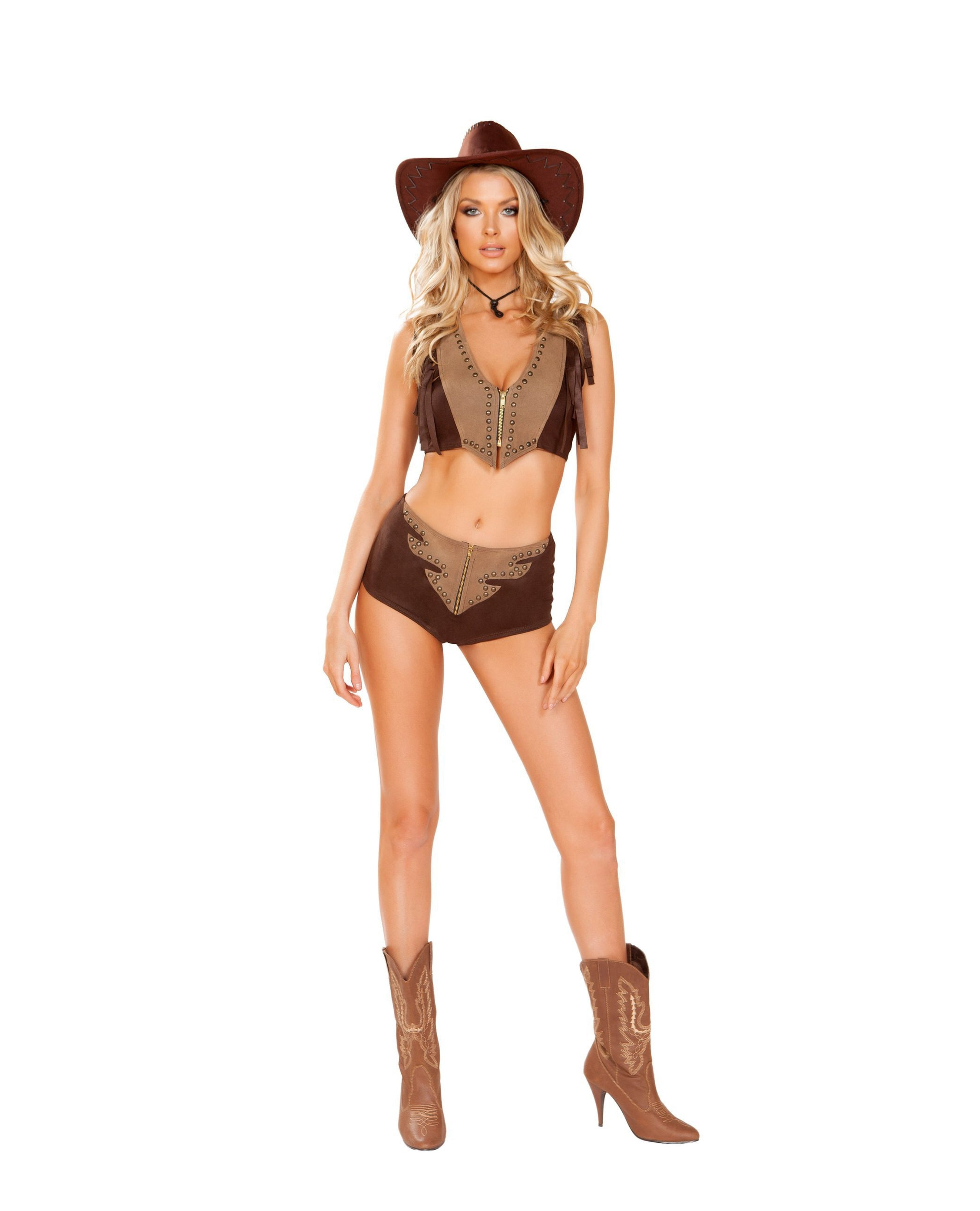 Western Cowgirl costumes Size SmallColor BrownNakees