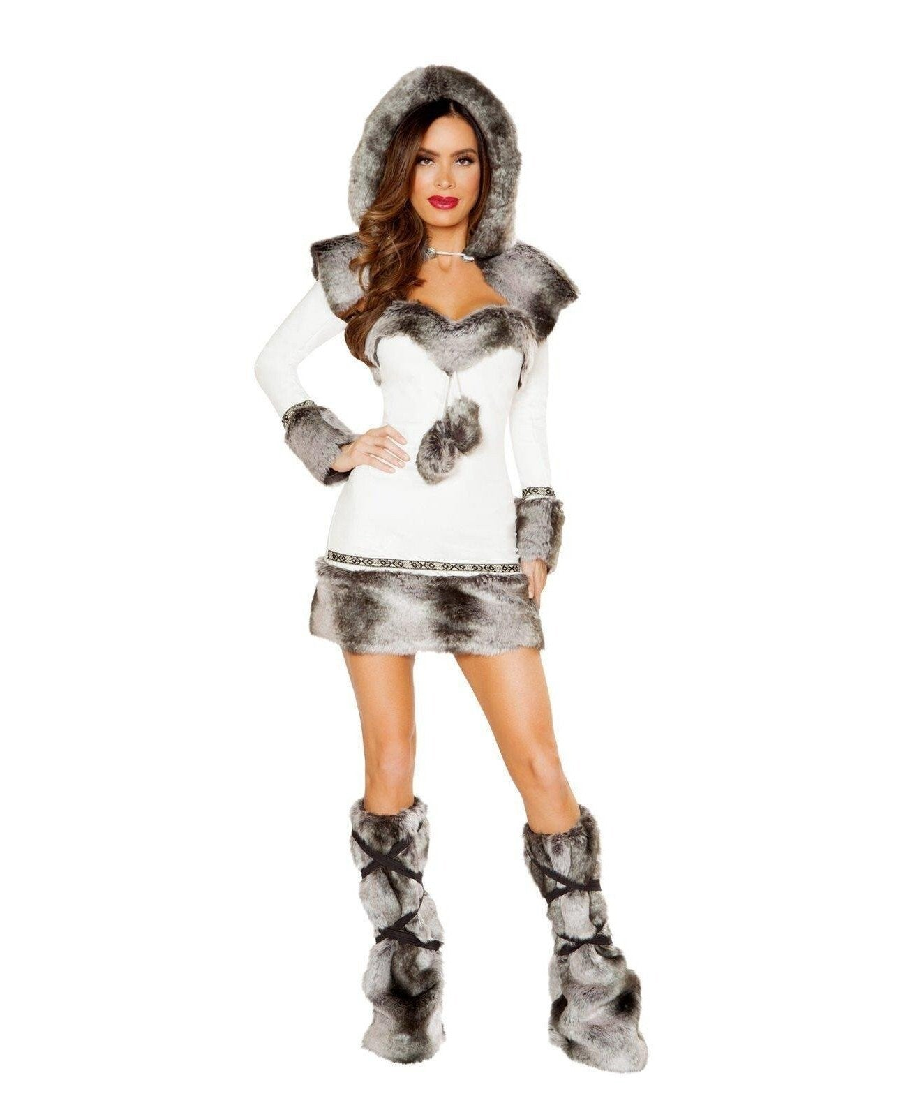 Winter Hottie Costume Costumes Size SmallColor White/GreyNakees