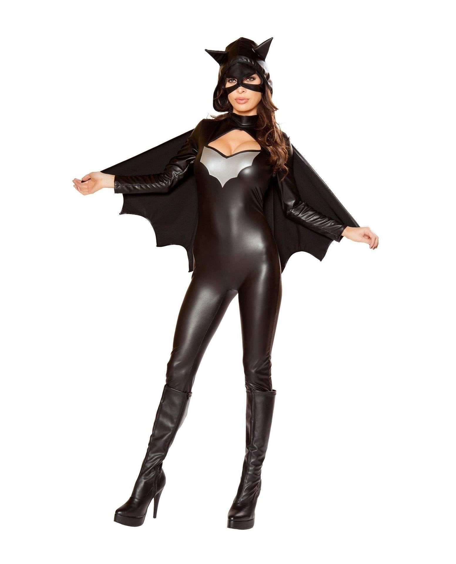 Woman Bat Hero Costume-Costumes-Roma Costume-Large-Black-Nakees