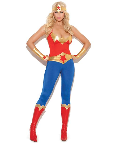 Wonder Superhero Woman Costume-costumes-Elegant Moments-small-blue-Nakees