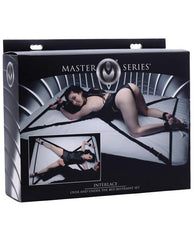 XR Brands Master Series Interlace Over and Under the Bed Restraint Set sex toys Nakees