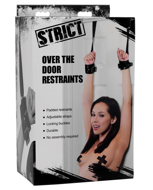 XR Brands STRICT Over the Door Bondage Restraints-sex toys-STRICT-Nakees