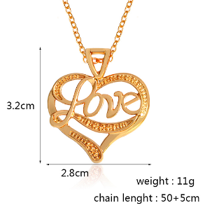 shaped best daughter necklace fine heart for mother jewelry products between and double gift pendant
