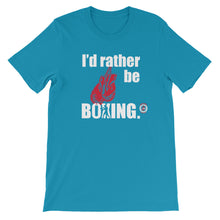 Rather Be Boxing - Unisex short sleeve t-shirt