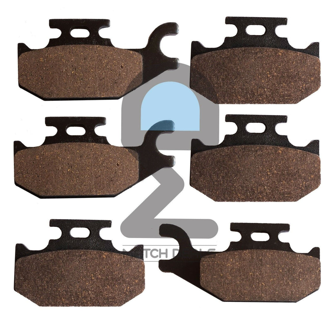 FRONT REAR BRAKE PADS FOR CAN-AM TRAXTER 500 4X4 2001-2003 / DS650 X 2001-2006