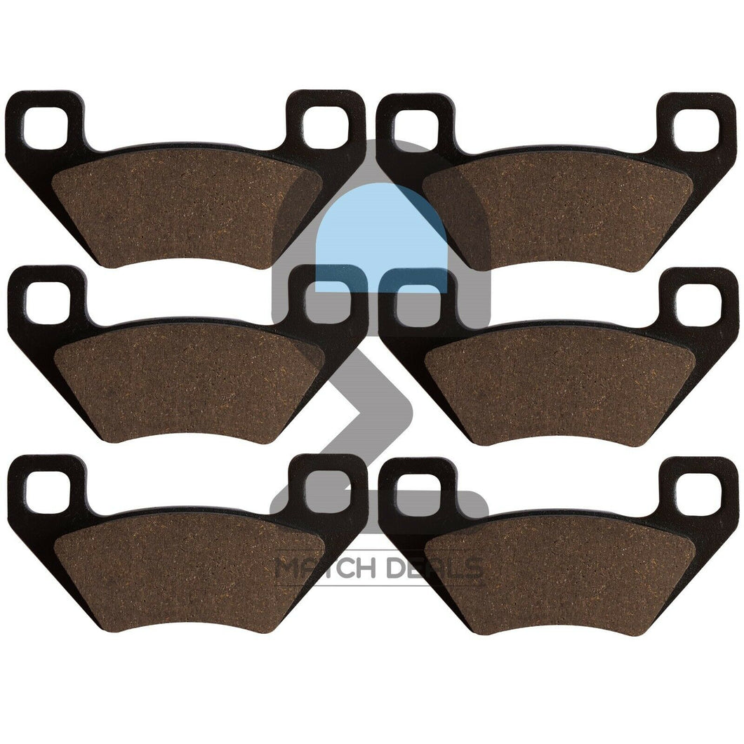 FRONT REAR BRAKE PADS FOR ARCTIC CAT UTILITY 300 2X4 300 2010-2014 / 350 2012