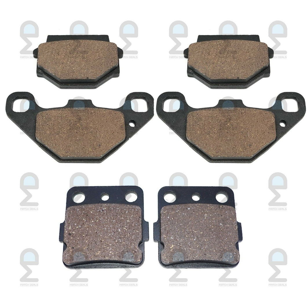 FRONT REAR BRAKE PADS FOR KAWASAKI LAKOTA 300 KEF300 1995-2000 / SPORT 2001-2003