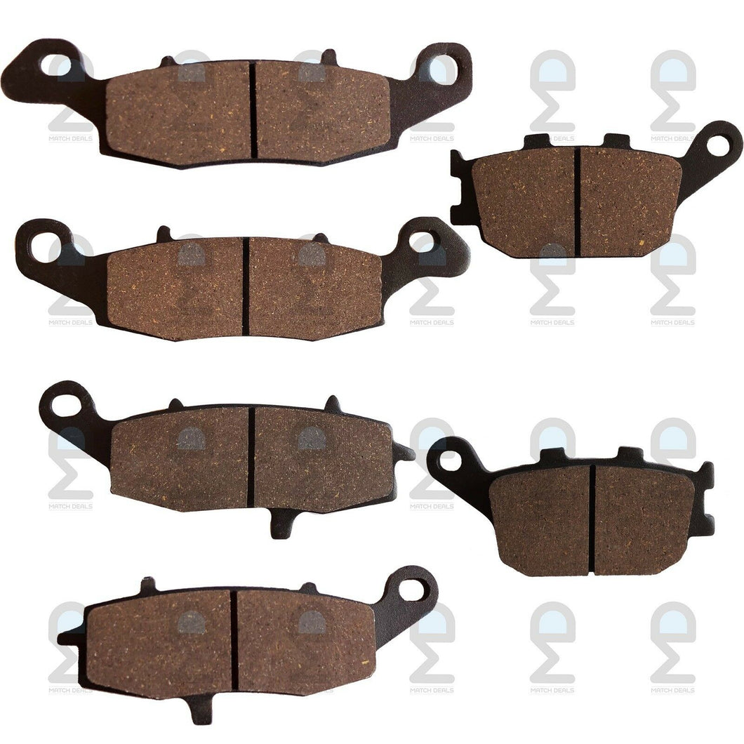 FRONT REAR BRAKE PADS FOR SUZUKI SV650S SV650SA 2003-2011 / GSX-S750 2015-2017