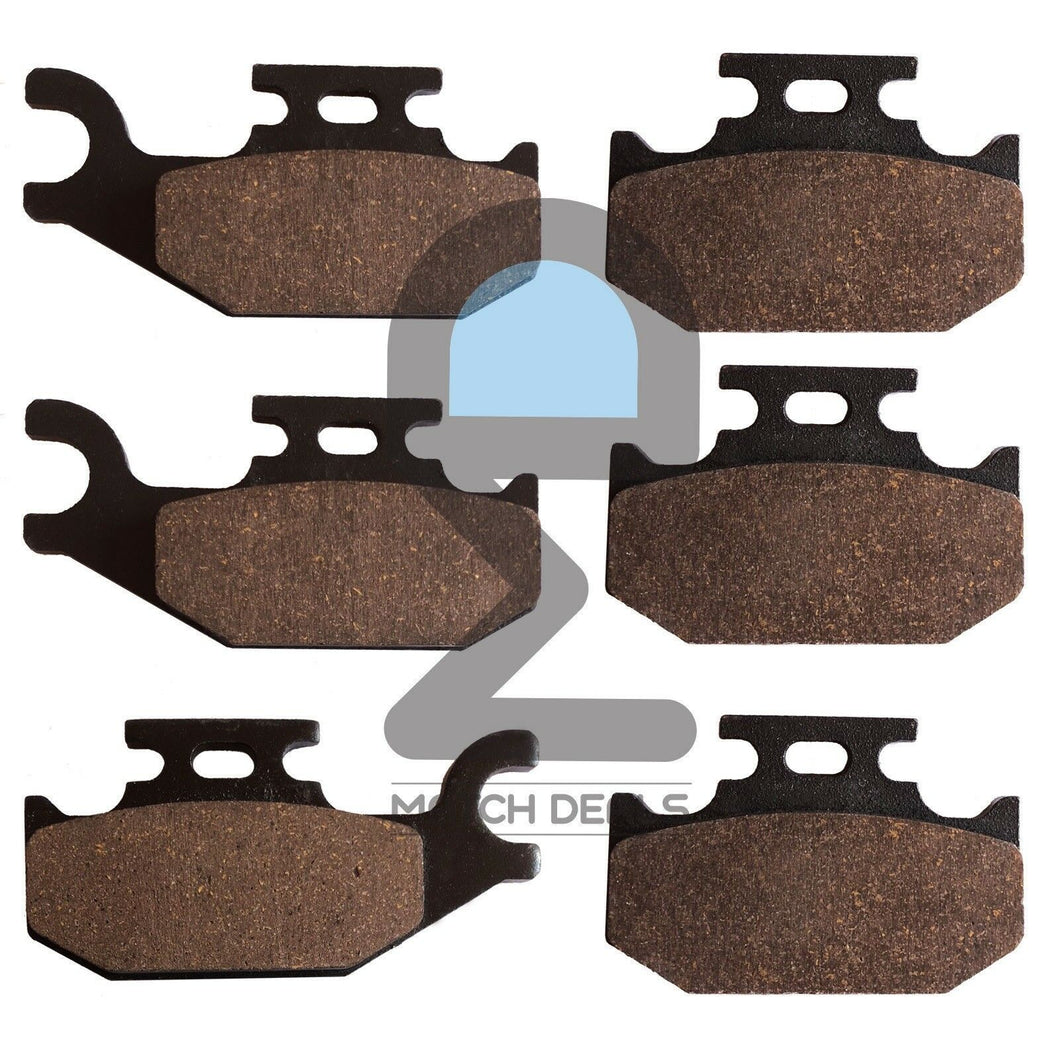 FRONT REAR BRAKE PADS FOR CAN-AM QUEST 500 2X4 2002 / QUEST 500 4X4 2002-2004