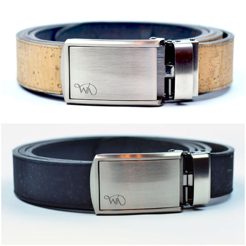 Unisex Cork 2 Belt | Gift Set