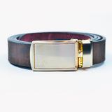 Unisex Cork Belt | Brown/Wine - Wardrobe Architect
