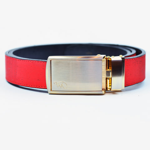 Unisex Cork Belt | Cherry/Coal