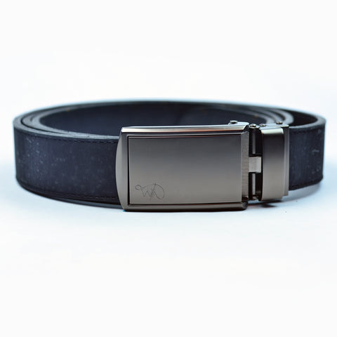 Unisex Cork Belt | Coal/Coal - Wardrobe Architect