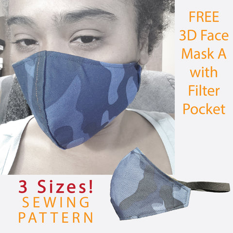 Sewing Pattern | Face Mask A w/ Filter Pocket - Wardrobe Architect
