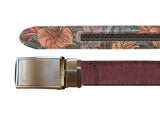 Unisex Cork Belt | Merlot/Hawaiian