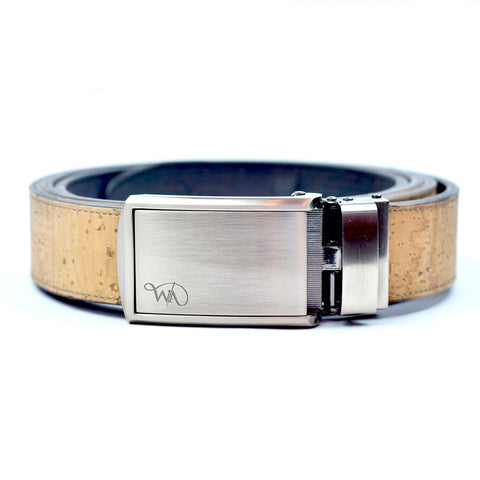 Unisex Cork Belt | Natural/Coal