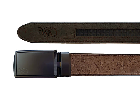 Unisex Cork Belt | Coffee/Olive